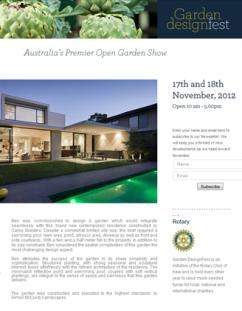 Garden Design Fest - Australia's Premier Open Garden Show