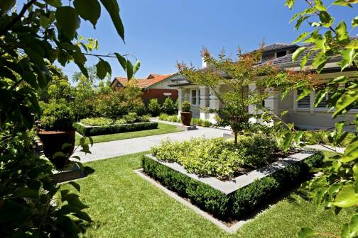 Ormond front garden landscaping