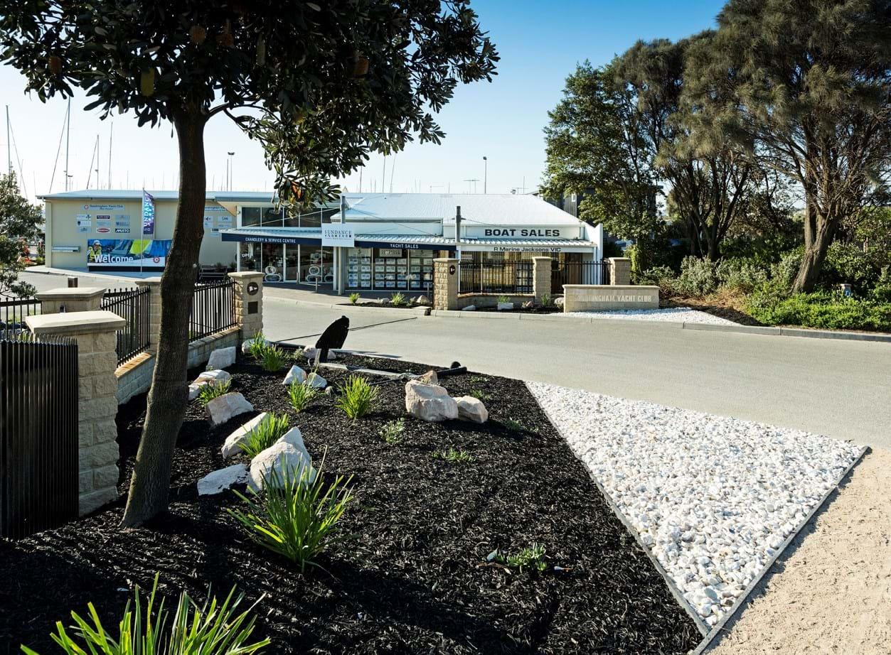 Sandringham Yacht Club garden